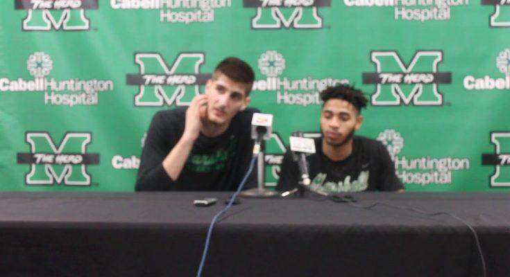 Marshall Men's Basketballl players postgame press ...