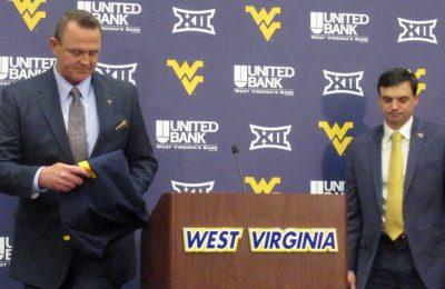 WVU Football: Neal Brown introduced at WVU Coliseum - WWNR ...